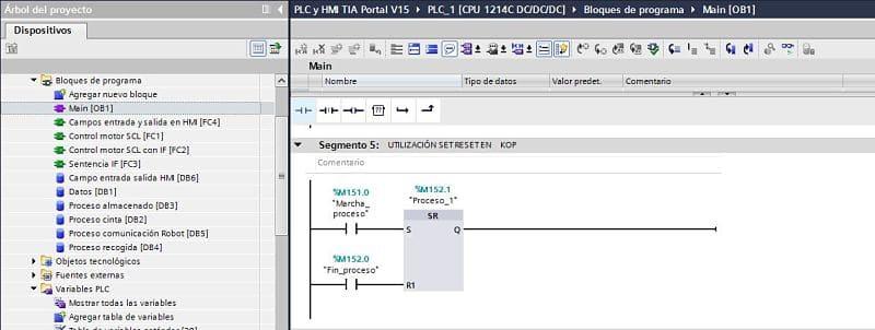 Utilización de la función en KOP en TIA Portal