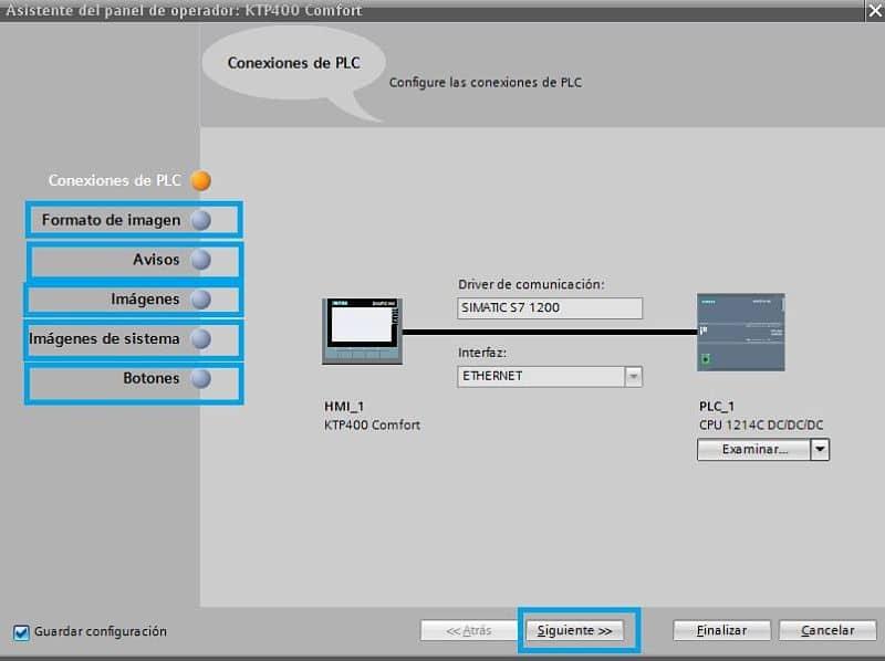 Configuraciones varias para crear el proyecto HMI en TIA Portal