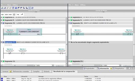 Comparar proyecto TIA Portal Offline con otro proyecto Offline