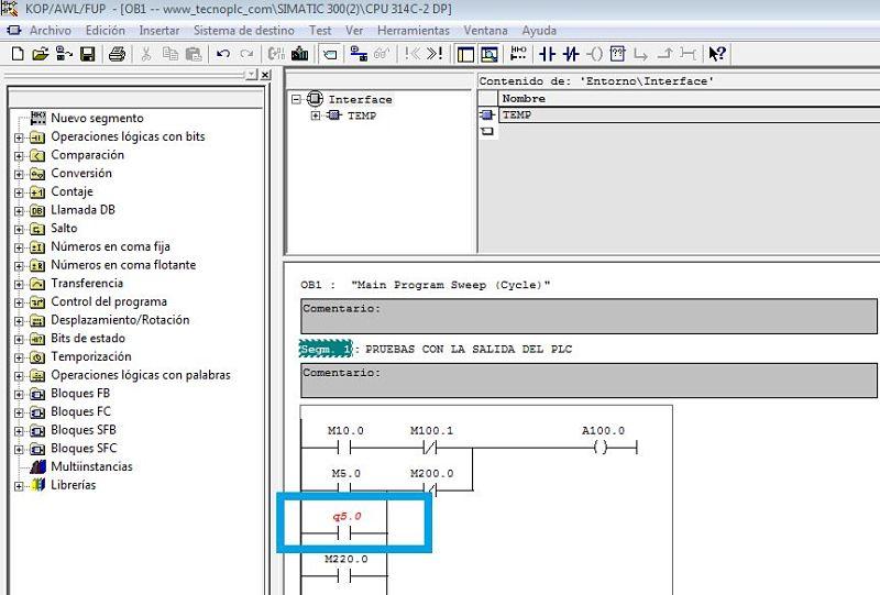 Error en el código del programa mostrado de color rojo