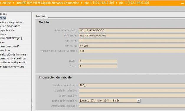 Firmware TIA Portal qué versión tiene tu CPU y tu proyecto