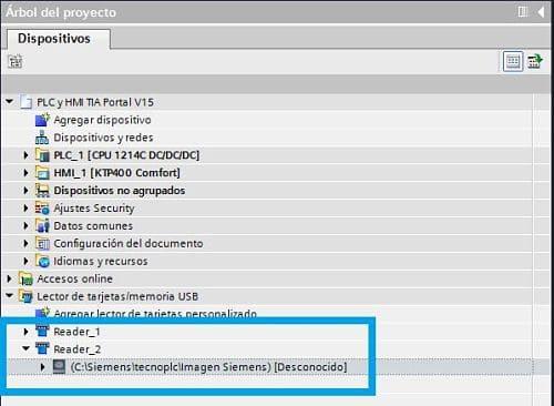Se han creado varias carpetas para grabar programa TIA Portal en un directorio del PC