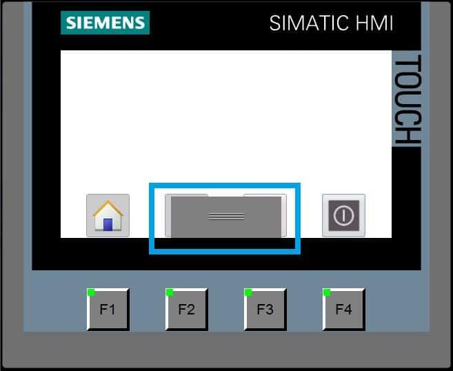 Se muestra el handle automáticamente cuando pulsamos en la parte inferior de la pantalla.