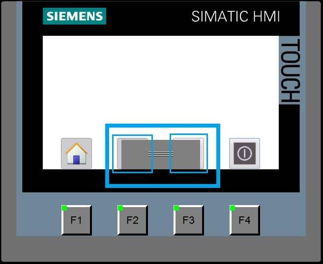 Solape de botones utilizando el handle en la imagen deslizable TIA Portal inferior.