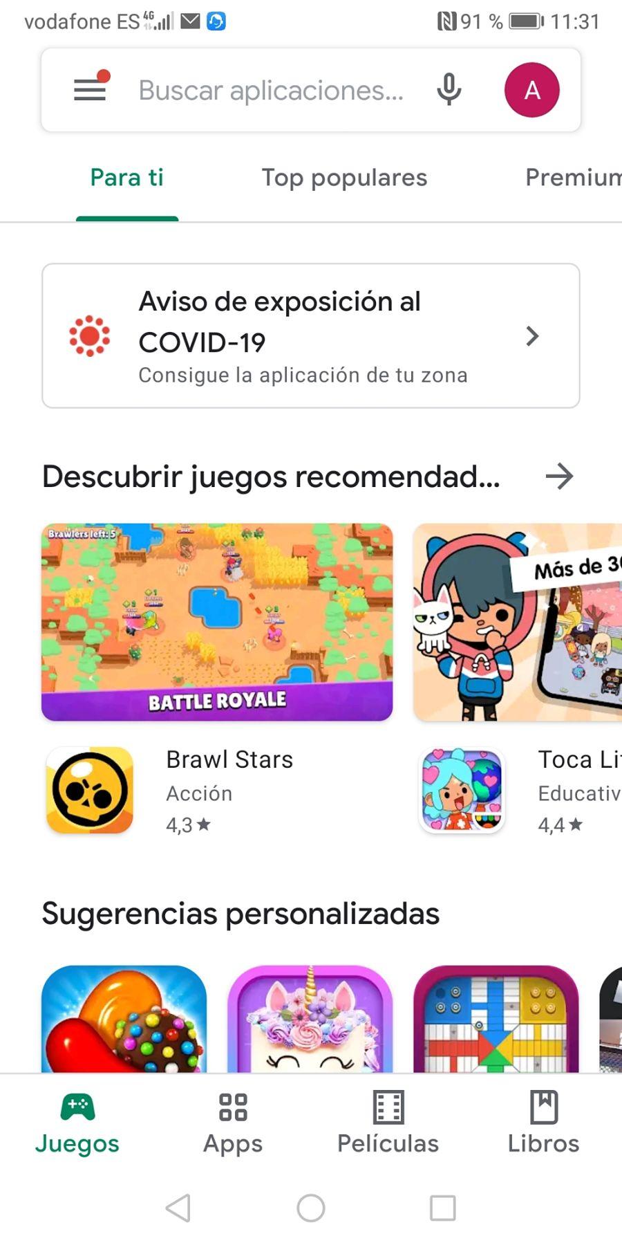 Acceder a la Play Store para buscar una App de acceso remoto