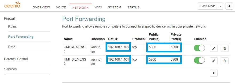 Conectar smartphone a pantalla indicando su dirección IP y los puertos habilitados
